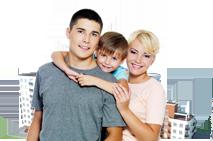 Молоді та сім'ям